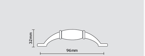Λαβή επίπλου αντικέ πορσελάνη No 05.76