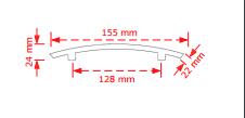 Πομολάκι επίπλων Silver  155/128