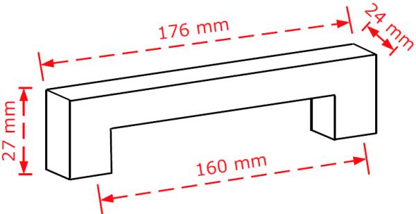 Εντυπωσιακή λαβη επίπλων 2253/160 χρώμιο γυαλιστερό