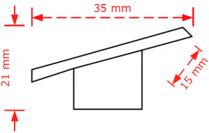 Πομολάκι επίπλων νίκελ ματ  2422