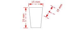 Πομολάκι επίπλων τετράγωνο Νο 73 νίκελ ματ