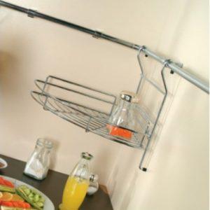 Καλάθι γωνιακό κρεμαστό κουζίνας ΙΝΟΧ   S 4008