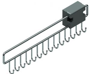 Κρεμάστρα για ζώνες συρταρωτή inox S 6053