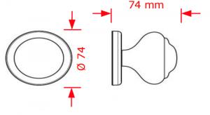 Μπούλ εξώπορτας νίκελ ματ-χρώμιο  Νο 56