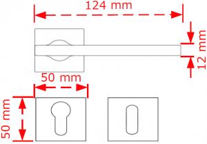 Χερούλι πόρτας ροζέτα inox matt/chrome 4120