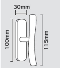 Γρυλόχερο παραθύρων σε minimal γραμμή 08.460 νίκελ ματ