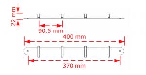 Εντυπωσιακή κρεμάστρα μεταλλική τοίχου-ξύλου 170