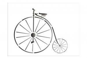 stensil 15χ20 vintage Ποδήλατο 1312