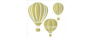 stensil  30,5χ30,5 Αερόστατο 2087