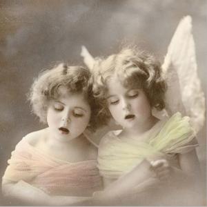 Χαρτοπετσέτα για decoupage 35x35 Άγγελοι