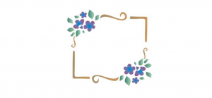 stensil 14χ14   Πλαίσιο λουλουδιών 995