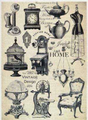 Ριζόχαρτο Α4  40gr Vintage Σχέδια