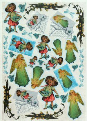 Ριζόχαρτο Α4 40gr  Girls with angels