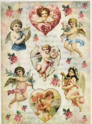 Ριζόχαρτο Α4 40gr Loveley Angels