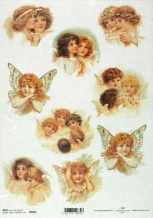 Ριζόχαρτο Α4 40gr  Vintage Sweetly Angels2