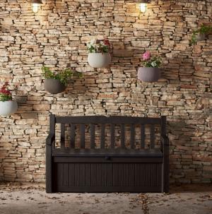 Καναπές - Μπαούλο Keter Eden Garden Bench 265lt απο πλαστικό PVC με φίλτρα αντί UV.
