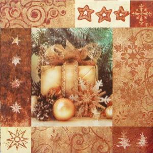Χαρτοπετσέτες Decoupage 40 x 40 merry christmas