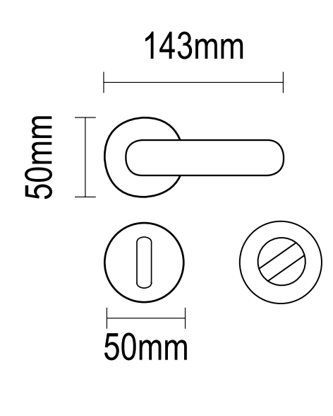 Χερούλι πόρτας Ροζέτα ορειχάλκινο  06.590 viometal