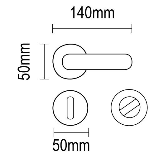 Xερούλι πόρτας ροζέτα άσπρο ματ 06.350 viometal