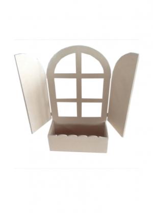 Κουτί mdf Παράθυρο με ζαρτινιέρα σε 40Χ24Χ10 & 58Χ35Χ10