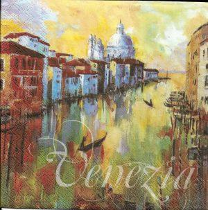 Χαρτοπετσέτες Decoupage 33 x 33 Venezia