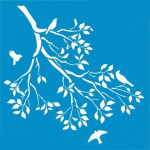 stensil 20χ25  πουλιά στο δέντρο 2332
