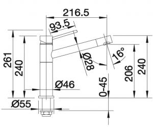 Μπαταρία νεροχύτη κουζίνας BLANCO Νο 512319