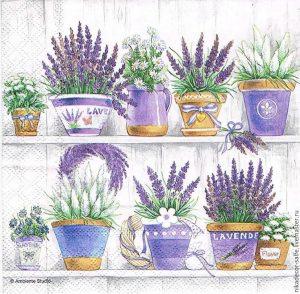 Χαρτοπετσέτες Decoupage 33 x 33 lavender range