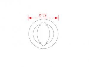 Ροζέτα με κλείστρο ασφαλείας  Νίκελ ματ 4052 WC
