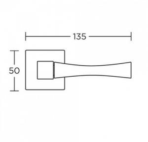 Χερούλι πόρτας  ροζέτα μαύρο ματ 835