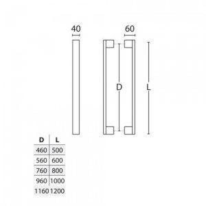 Λαβή εξώπορτας μαύρο ματ 989 aluminium