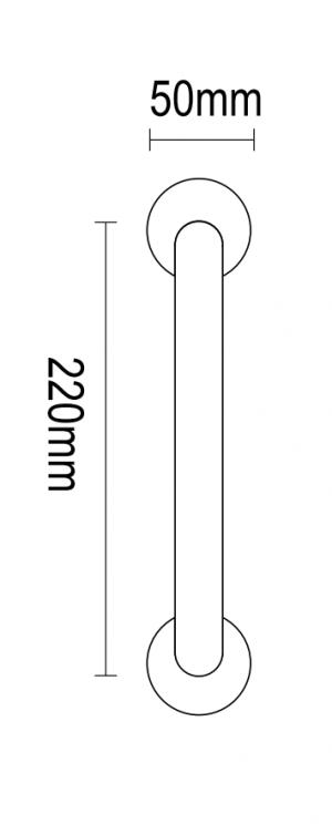Λαβη εξώπορτας αντικέ 220mm 04.940