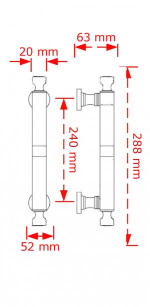 Λαβή εξώπορτας Inox mat  116