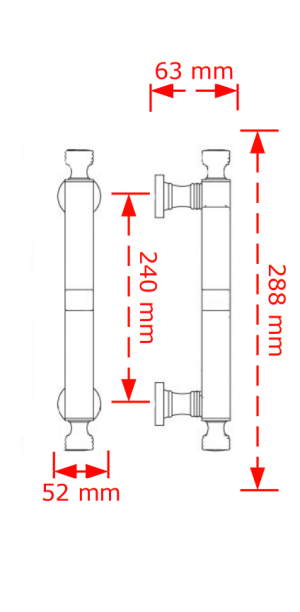 Λαβή εξώπορτας  νίκελ ματ 117