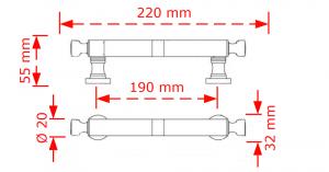 Λαβή εξώπορτας 19,0cm  αντικέ 124