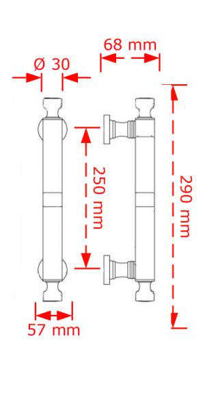 Λαβή εξώπορτας νίκελ mat  127