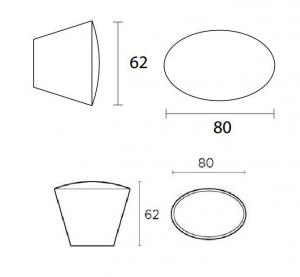 Πόμολο εξώπορτας μαύρο  No 479 convex