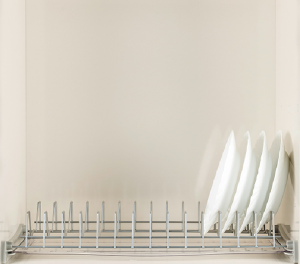 Πιατοθήκη ντουλαπιού νέου τύπου καθιστή-κρεμαστή επινικελωμένη  95cm
