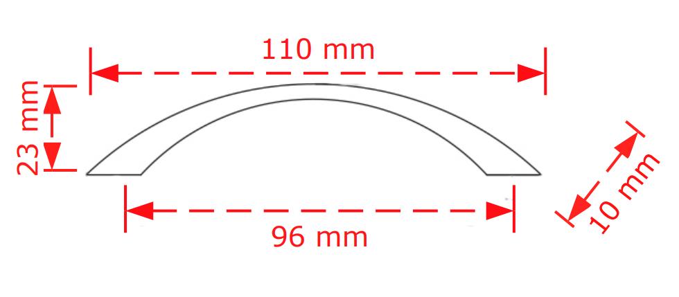 Λαβή επίπλων χρυσό ματ  96cm  130/96 viobrass