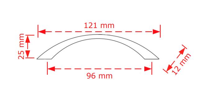 Λαβή συρταριών  νίκελ ματ  9,6cm  No 151