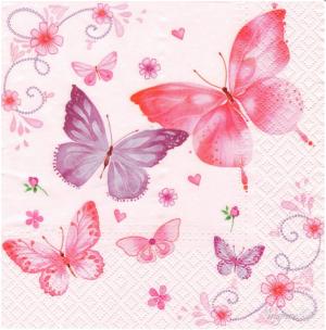 Χαρτοπετσέτες Decoupage 35 x 35 Πεταλούδες daisy