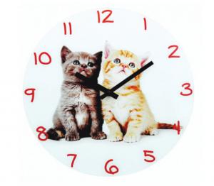 Ρολόι Τοίχου Μεταλλικό Γατάκια Νο 3