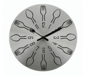 Ρολόι Τοίχου Μεταλλικό πιρούνια