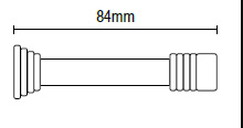 Στόπ μεταλλικό Πόρτας νίκελ ματ  84mm