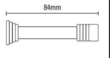 Στόπ  Πόρτας Μεταλλικό  Χρυσό 84mm