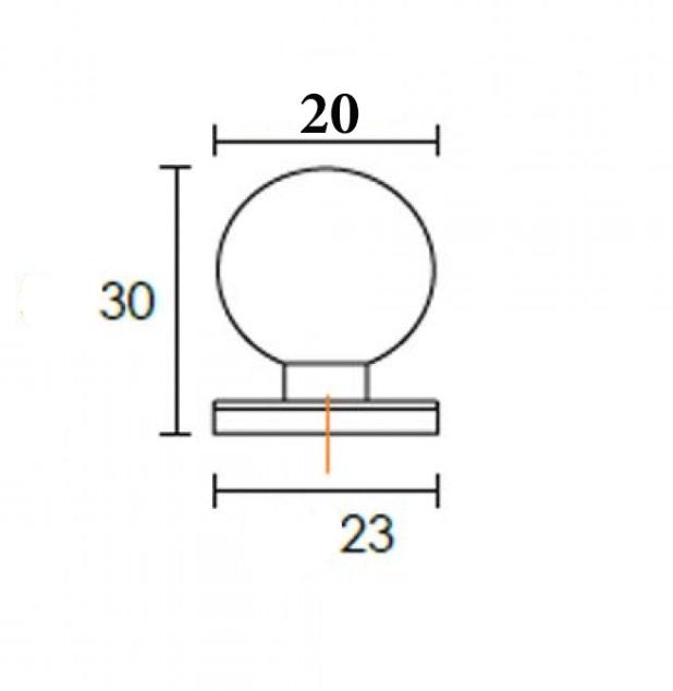 Πομολάκι επίπλων Μπίλια σε νίκελ ματ 6050
