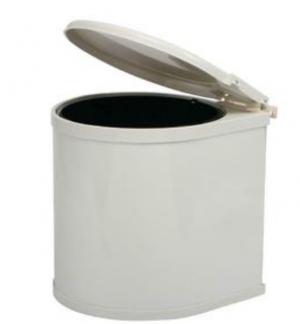 Κάδος Απορριμμάτων  με μηχανισμό πλαστικός λευκός 13lit