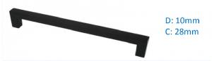 Λαβή επίπλων τετράγωνη 1192 μπάρα μάυρη ματ 12,8cm