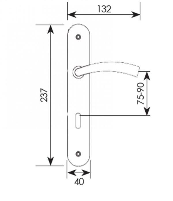 Χερούλι πόρτας πλάκα χρυσό ματ ζεύγος Ζ-021