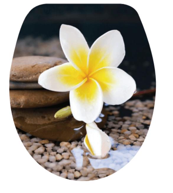 Καπάκι Κάλυμμα Λεκάνης  Βότσαλα-Λουλούδι No 200